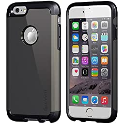 Luvvitt Ultra Armor Shock Absorbing Heavy Duty Dual Layer Case for Apple iPhone 6 / iPhone 6s - Black / Gunmetal