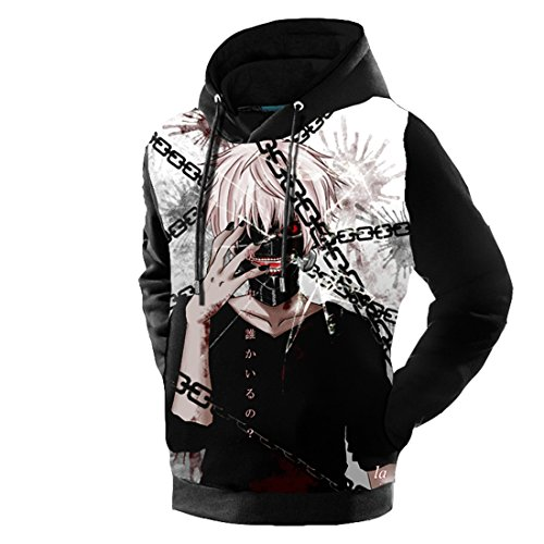 Rising-Sun Unisex Tokyo Ghoul Hoodies Anime Sweatshirts (M, SZ7)