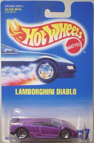 #227 Lamborghini Diablo Light Purple Razor Wheels Hot Wheels 1:64 Scale Collectible Die Cast Car - 1