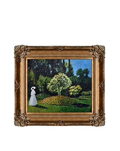 Claude Monet Jeanne-Marguerite Lecadre (Lady In A Garden) Hand-Painted Oil Reproduction