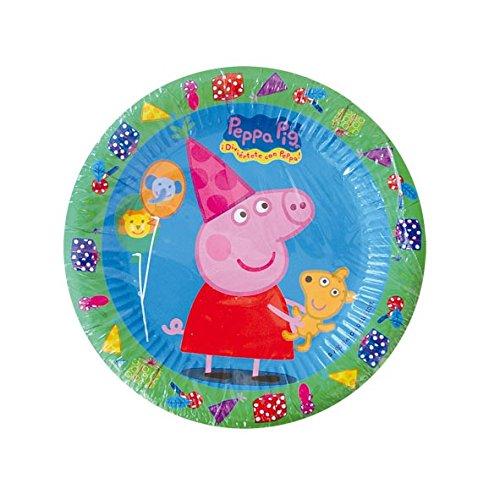 Peppa Pig - 8 platos, 18 cm (Verbetena 016000720)