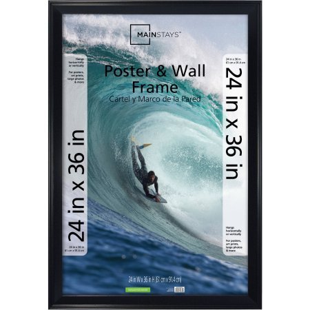 24x36-Casual-Poster-Picture-Frame-Black-Plastic-by-Mainstays