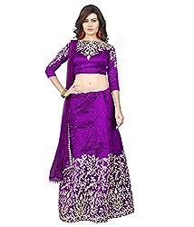 pushty fashion purple embroidery disigner lahenga Semistiched