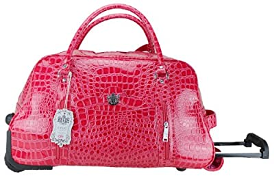 Exoticglitter LYDC Ladies Designer Travel Bag Plum Croc Holdal Ladies Trolley Hand Shoulder bag