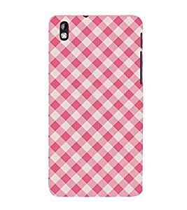 Red Checks Pattern Wallpaper 3D Hard Polycarbonate Designer Back Case Cover for HTC Desire 816::HTC Desire 816 G::HTC Desire 816D::HTC Desire 816G (Octa Core)