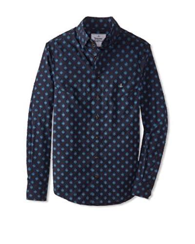 Vivienne Westwood Men's Patterned Long Sleeve Shirt