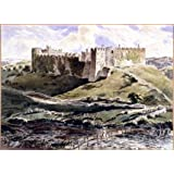 Manorbier Castle, Pembrokeshire, by Donald H. Edwards (V&A Custom Print)