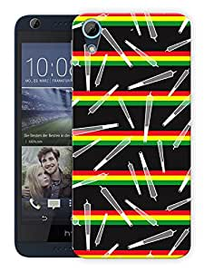 "Humor Gang Joints Rasta Pattern Printed Designer Mobile Back Cover For ""HTC DESIRE 626"" (3D, Matte, Premium Quality Snap On Case)"