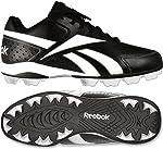 Reebok J19612 Junior Prospect Low MRT Youth Baseball Cleats (Black/White)