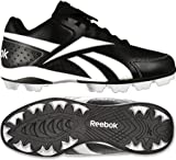 Reebok J19612 Junior Prospect Low MRT Youth Baseball Cleats (Black/White)