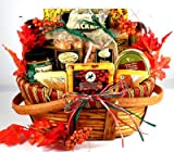 Gourmet Thanksgiving Fall Gift Basket | Premium Nuts, Cheese, and Cookies