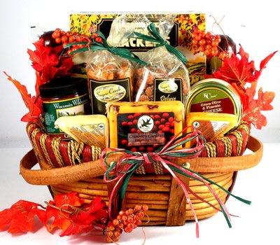 Gourmet Thanksgiving Fall Gift Basket   Premium