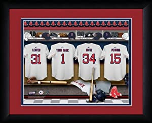 MLB Personalized Locker Room Print Black Frame Customized Boston Red Sox by You