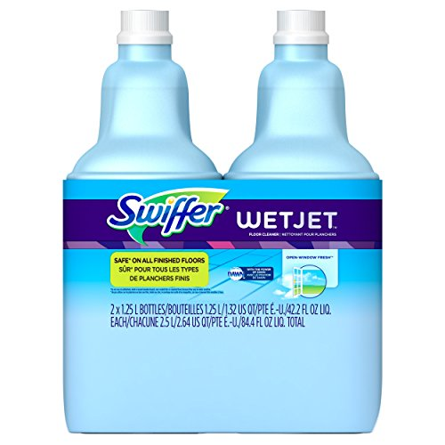 Swiffer WetJet Multi-purpose Floor Cleaner Solution Refill Open Window Fresh Scent 2 count of 1.25L (Wet Mop Swiffer compare prices)