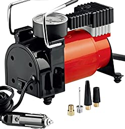 Cartman DC12V Heavy Duty Air Compressor in Carry Bag, 120Watt (Red)