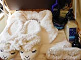 Sweet Dreams Sleep Lambie & Lavender Vanilla Aromatherapy Sleep Basket Set Including Robe, Slippers, Eye Mask and Body Products