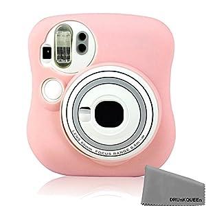 DRUnKQUEEn Fujifilm Instax Mini 25 Camera Case - Soft Skin Cover Comprehensive Protection Instax Mini-25 Instant Film Camera Case Bag - pink