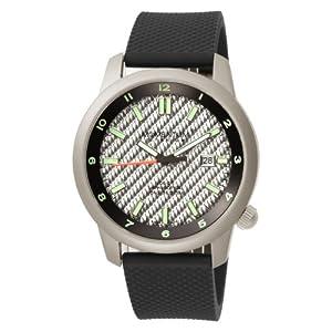 Momentum Men's 1M-SP20S1 Logic TI Silver Dial Black Rubber Bracelet Watch