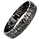 Willis Judd Mens Gunmetal Titanium Magnetic Bracelet In Black Velvet Gift Box + Free Link Removal Toolby Willis Judd