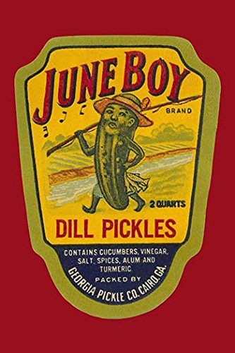 Buyenlarge 0-587-25179-4-P2030 'June Boy Dill Pickles' Paper Poster, 20 by 30-Inch (Dill Pickle Poster compare prices)