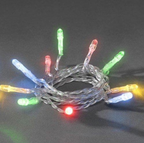 LED Micro-Lichterkette für innen, 20 bunte Kerzen