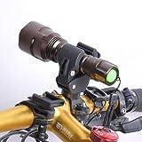 自転車、バイク用 LEDライト・クランプ ホルダー