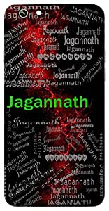 Jagannath (Lord Of The World) Name & Sign Printed All over customize & Personalized!! Protective back cover for your Smart Phone : Moto E-2 ( 2nd Gen )