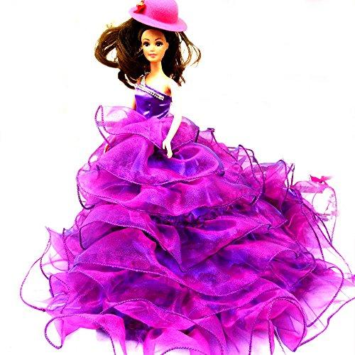 WayIn-Banquete-de-boda-de-moda-hecha-a-mano-viste-el-vestido-para-la-mueca-de-Barbie-prpura