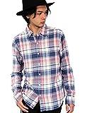 (エイト) 8(eight)3color チェック ネルシャツ 長袖シャツ コットン アメカジ ピンク L