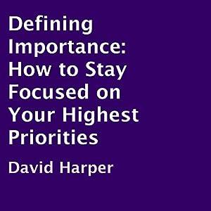 Defining Importance Audiobook