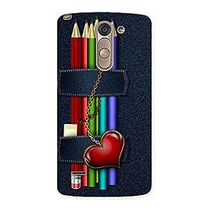 Gorgeous Denim Pencil Print Back Case Cover for LG G3 Stylus