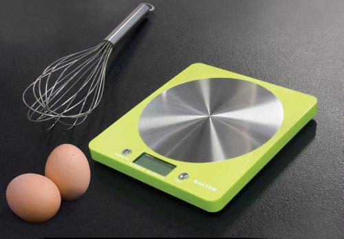 Salter 2049782 Balance de Cuisine Électronique Design Ultraplat Inox Rosé 19,7 x 5 x 22 cm