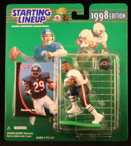 RAYMONT HARRIS / CHICAGO BEARS 1998 NFL Starting Lineup Action Figure & Exclusive NFL Collector Trading Card