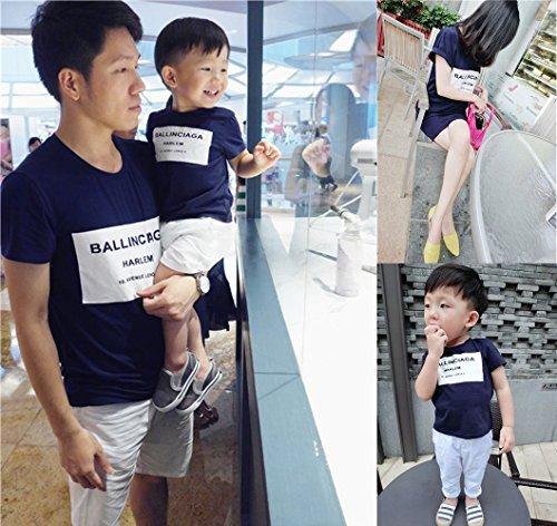 親子ペア ペアルック 半袖 Tシャツ ワンピース 男の子 女の子 ファミリー ファッション (パパL)