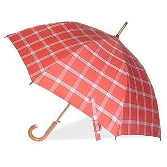 London Fog Auto Stick Umbrella, Fashion Red, One Size