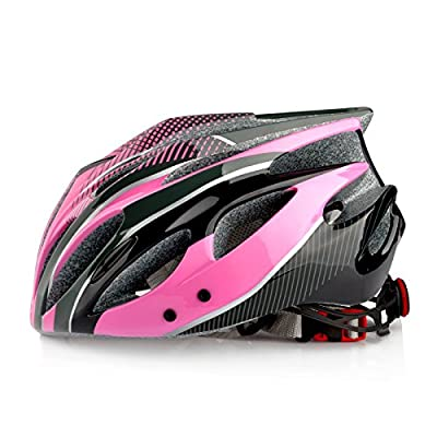 Women's Girls Cycling Helmet with Removable Visor, Size 54-59cm in Pink from Skyrocket