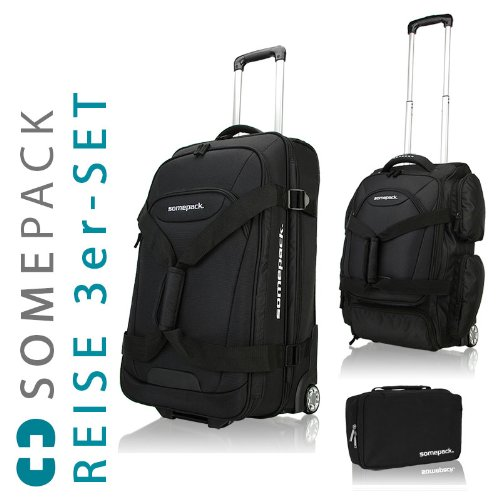 exklusives Somepack Travel Set Reisetrolley Bordcase
