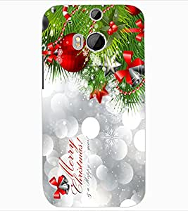 ColourCraft Christmas Design Back Case Cover for HTC ONE M8