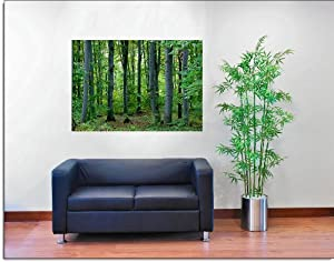 Woodland forest peel stick canvas one piece wall mural for 5 piece mural