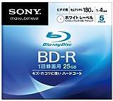 SONY ブルーレイディスク ビデオ用BD-R 追記型 片面1層25GB 4倍速 プリンタブル 5枚P 5BNR1VCPS4