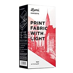 Inkodye Print Fabric with Light kit Red by Lumi Co