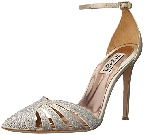Badgley Mischka Women's Sirena D'Orsay Pump, Ivory, 9.5 M US