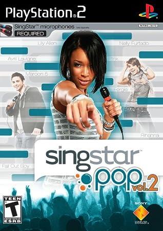 PlayStation 2 - PS2 Konsole inkl. SingStar Deutsch Rock-Pop Vol. 2 + 2 Mikrofone