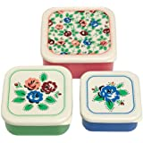 Set Of 3 dotcomgiftshop Rambling Rose Snack Boxes