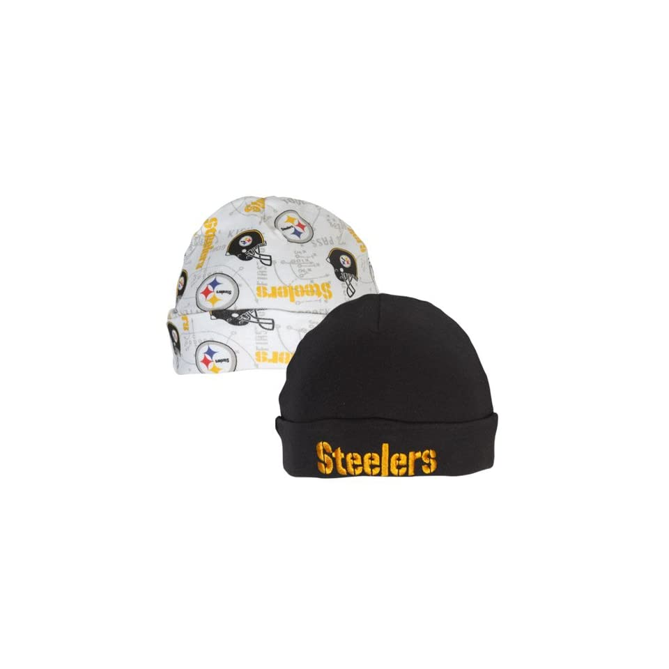 NFL Pittsburgh Steelers Infant Cap Set, Pack of 2, 0 6 Months