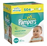 Pampers Natural Clean Wipes, 1008- Wipes