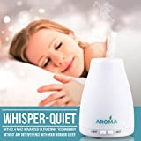Best Essential Oil Diffuser for Refreshed Aroma Air from AromaV - Offer a Compact Cool Mist Humidifier Designed to Improve Health & Protect your Aromatherapy Oils, Includes Whisper Quiet Built-in Ultrasonic Diffusers Technology for a Better Sleep