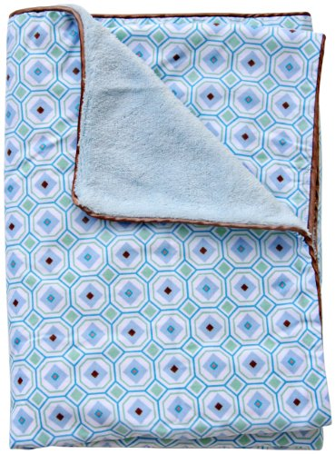 Caden Lane Modern Vintage Collection Octagon Piped Blanket, Boy