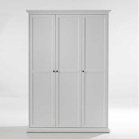 Schlafzimmer Kleiderschrank in Weiß 3 Turen Pharao24