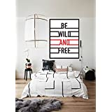 Be Wild And FREE Print Poster, Print Art For Study Room, Office, Bed Room